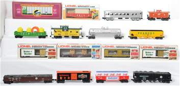 16 K Line Lionel and MTH cars CNW PRR etc