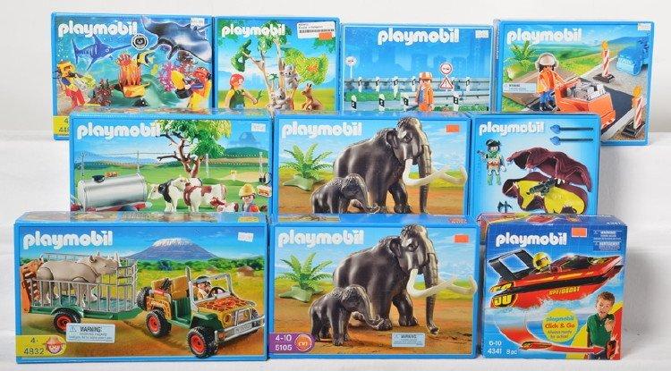 10 Playmobil kits 4044, 3257, 4854, 4488, 4802, etc