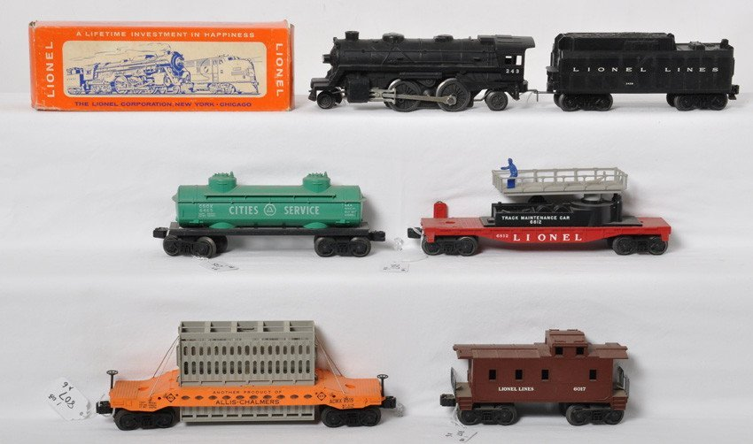 Lionel 243, 243W, 6812 in OB, 6519, 6465, and 6017