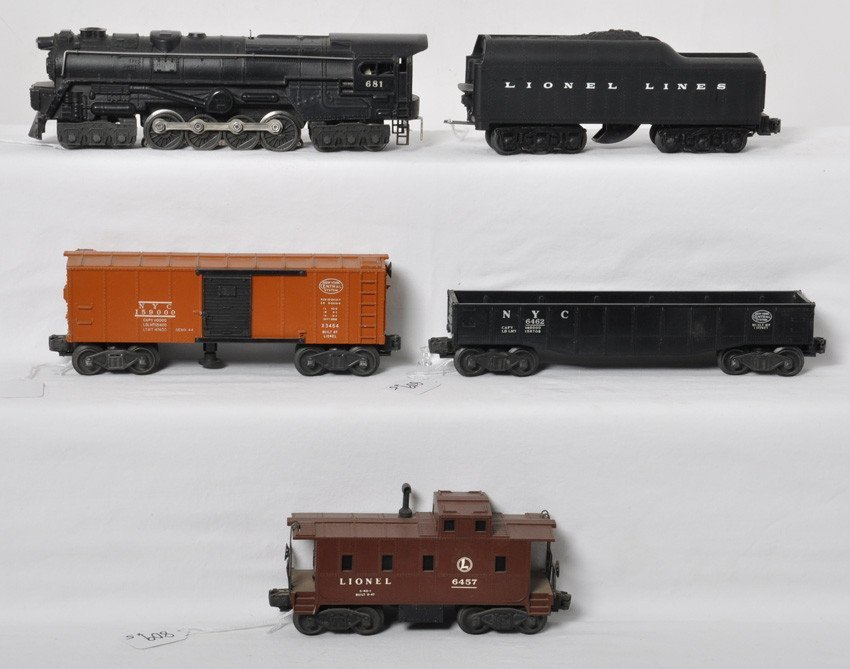 Lionel 681, 2671W, X3464, 6462, 6457 2150WS 1950