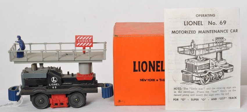 Lionel No. 69 motorized maintenance car in OB w/instr.