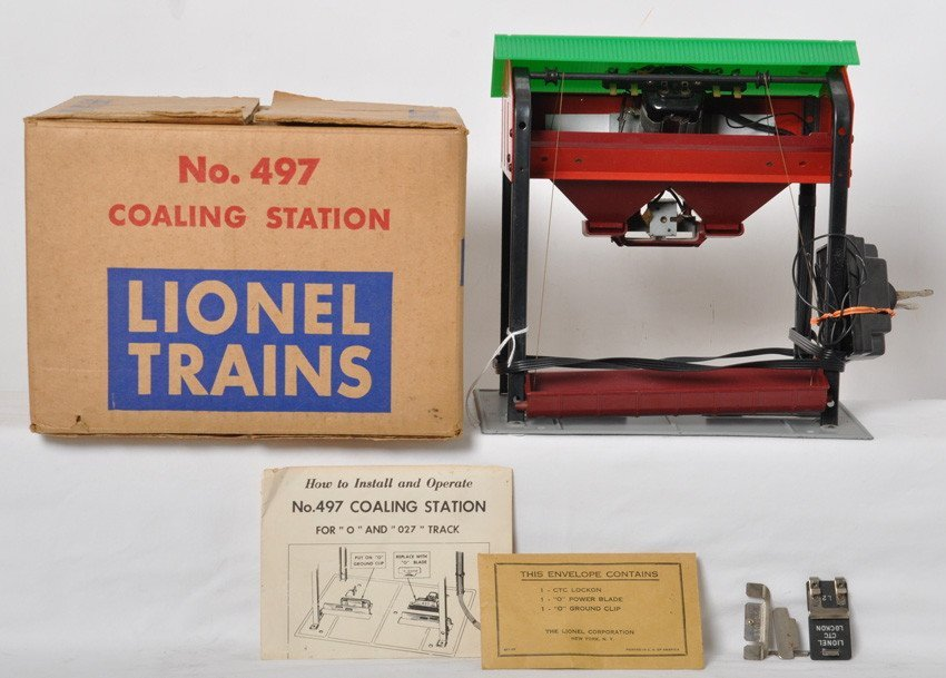 Lionel 497 coaling station in OB w/inserts, instruction