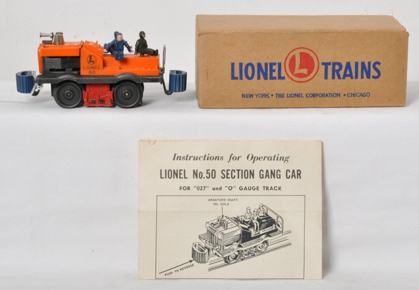 Lionel No. 50 gang car in OB w/instructions sheet