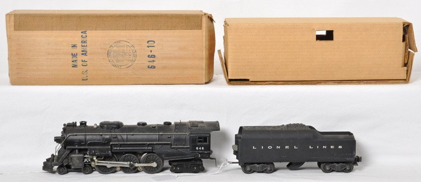 Lionel 646 loco in OB with 2046W whistle tender