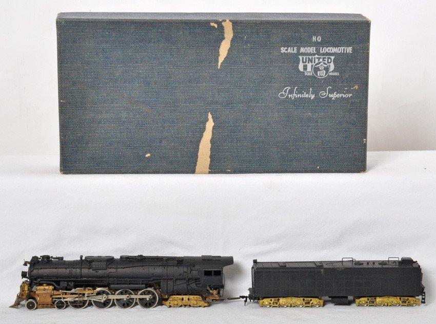 United HO Brass Santa Fe 4-8-4 steam locomotive