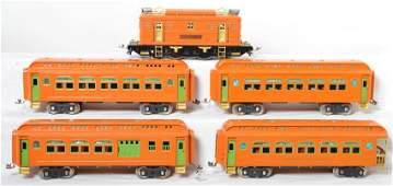 Lionel 9E 428 429 430 430 orange SG passenger tra