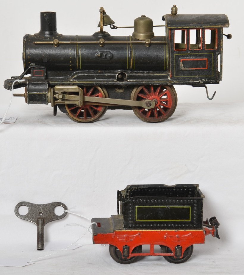 Marklin Gauge 1 0-4-0 steam locomotive and tender mech.