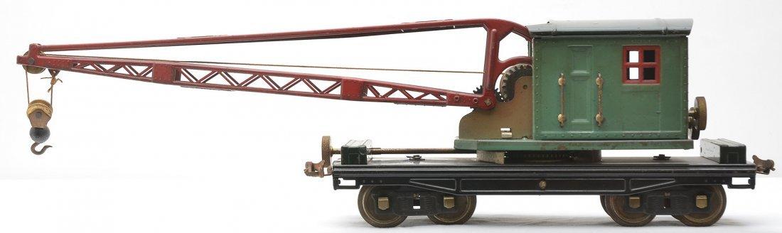 Lionel 219 Crane w/Peacock Cab Brass Trim