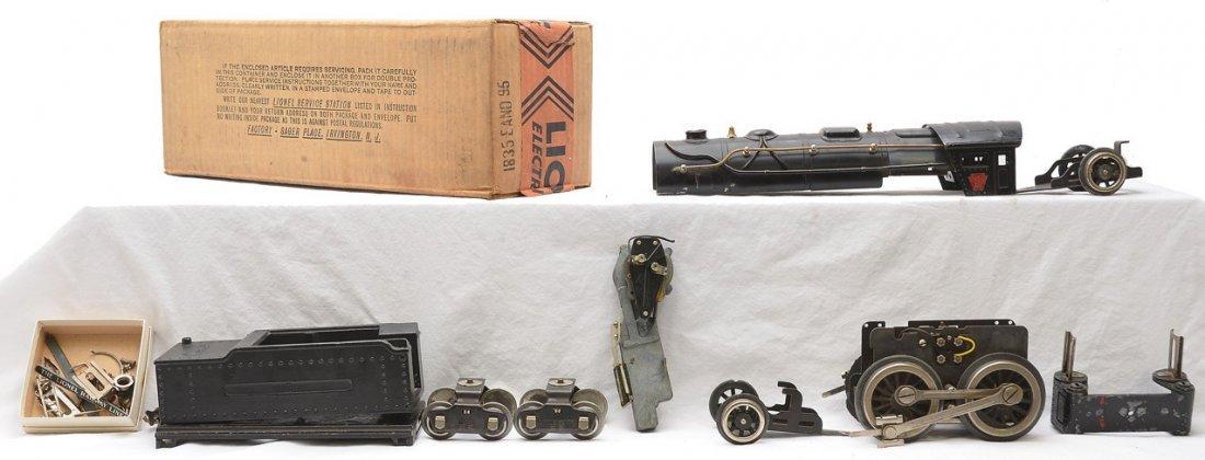 Lionel 1835E Steam Loco 1835W Tender Parts