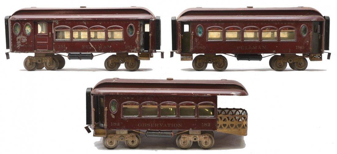 Lionel Std. Ga. Maroon Pass Cars 180 181 182