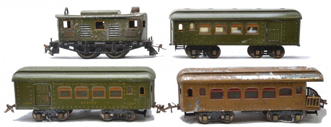 Ives 3235R Loco 2-170 Buffet Cars 172 Observation