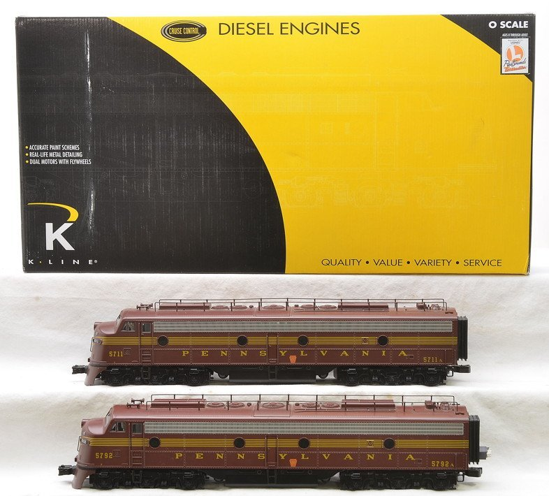 K-Line K-28802 PRR E-8 AA Diesel Engines