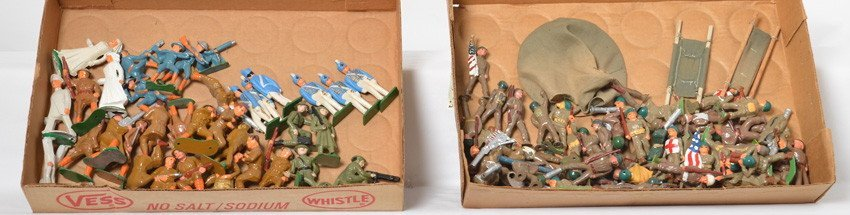 Large lot of diecast lead and steel soldiers