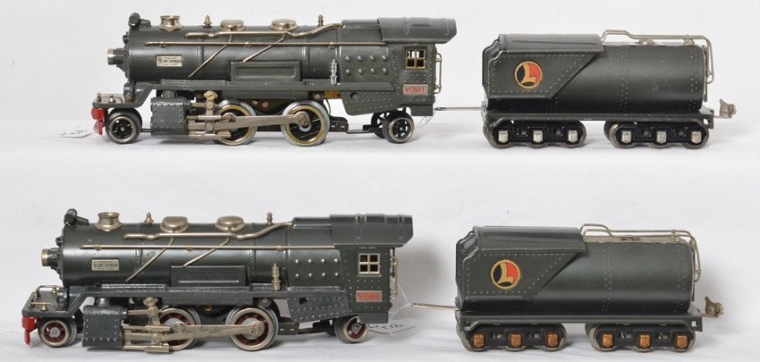 Two Lionel 260-E steam locos with tenders GM gray