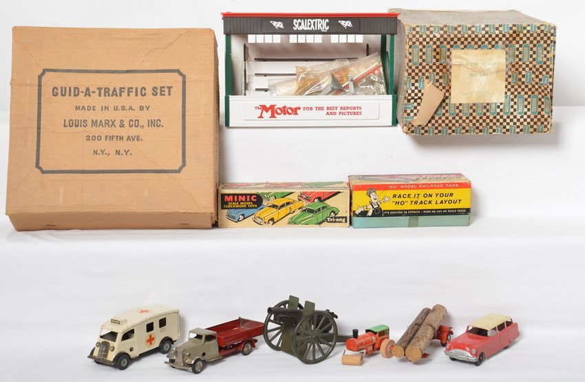 Mixed lot of toy vehicles, Marx, Tootsietoy, Dinky