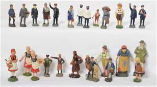 Elastolin village people, porters, ladies, men, etc.
