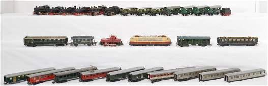 Marklin HO steam & elec. locos and passenger cars