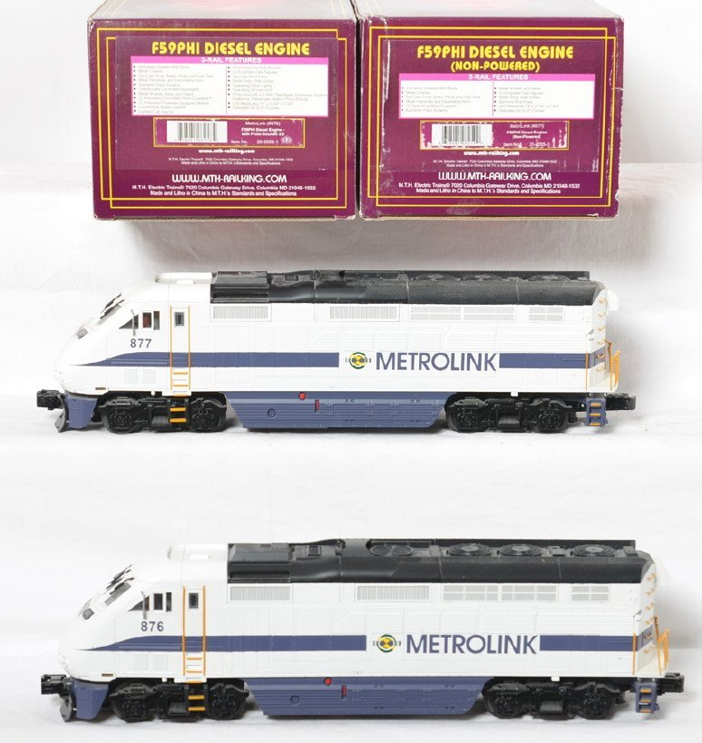 Mth Metrolink F59phi Power And Dummy Pair With Proto 2