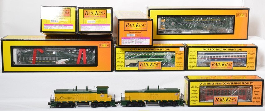 8 Railking locos, street cars and Doodlebugs