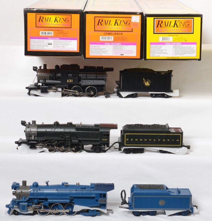 Railking Blue Comet, Camelback and K-4 locos