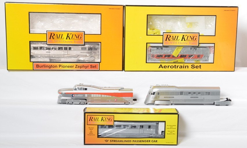 Railking Aerotrain and Pioneer Zephyr sets