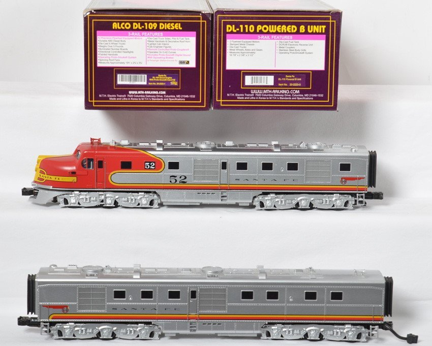 MTH Santa Fe Alco Dl-109 And Dl-110 B Unit