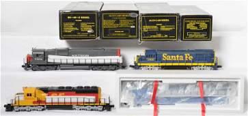 4 Weaver locomotives C-628, SD40-2, C-630, U25B