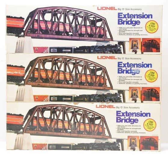 Lionel three 2122 Extension Bridges OBs