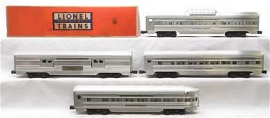 Lionel Aluminum Pass Cars 2530 2532 2533 2531