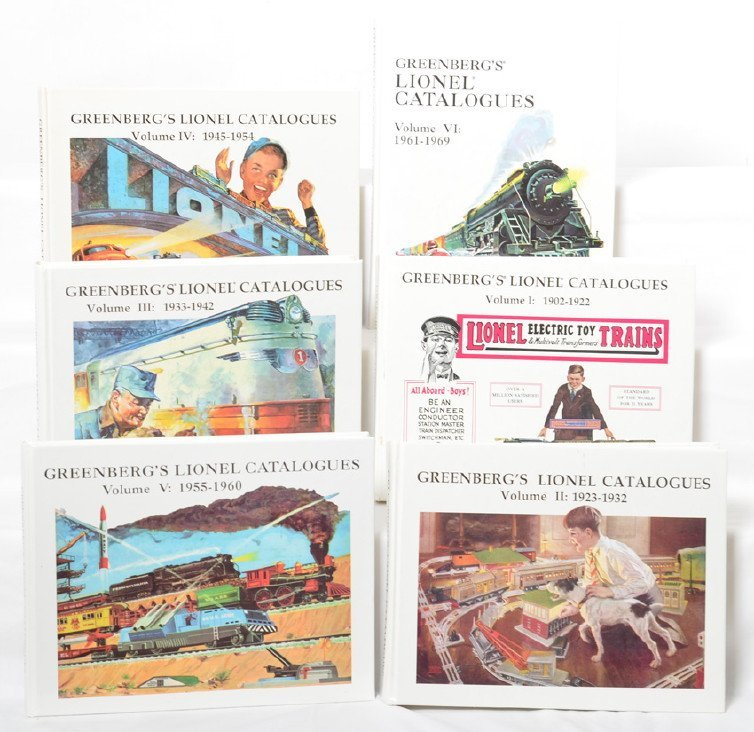 GreenbergÍs Lionel Catalogues Volumes I-VI