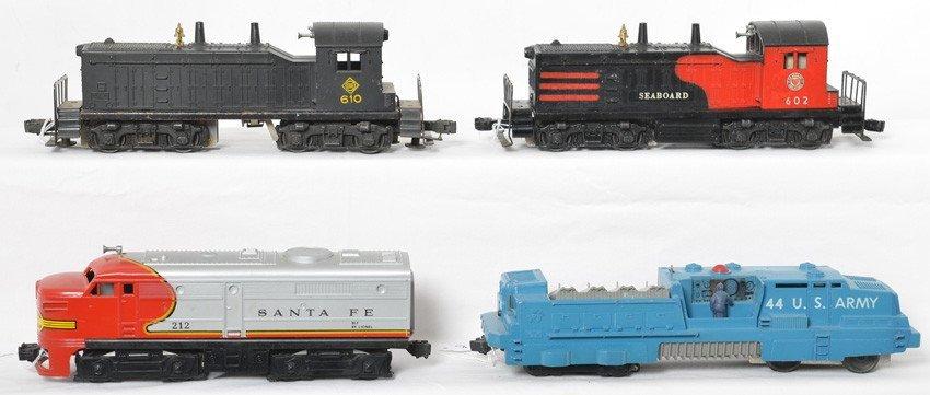 Lionel 44, 212, 602, 610 diesel locomotives