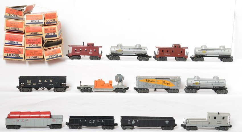 Large lot of Lionel postwar freight in OB