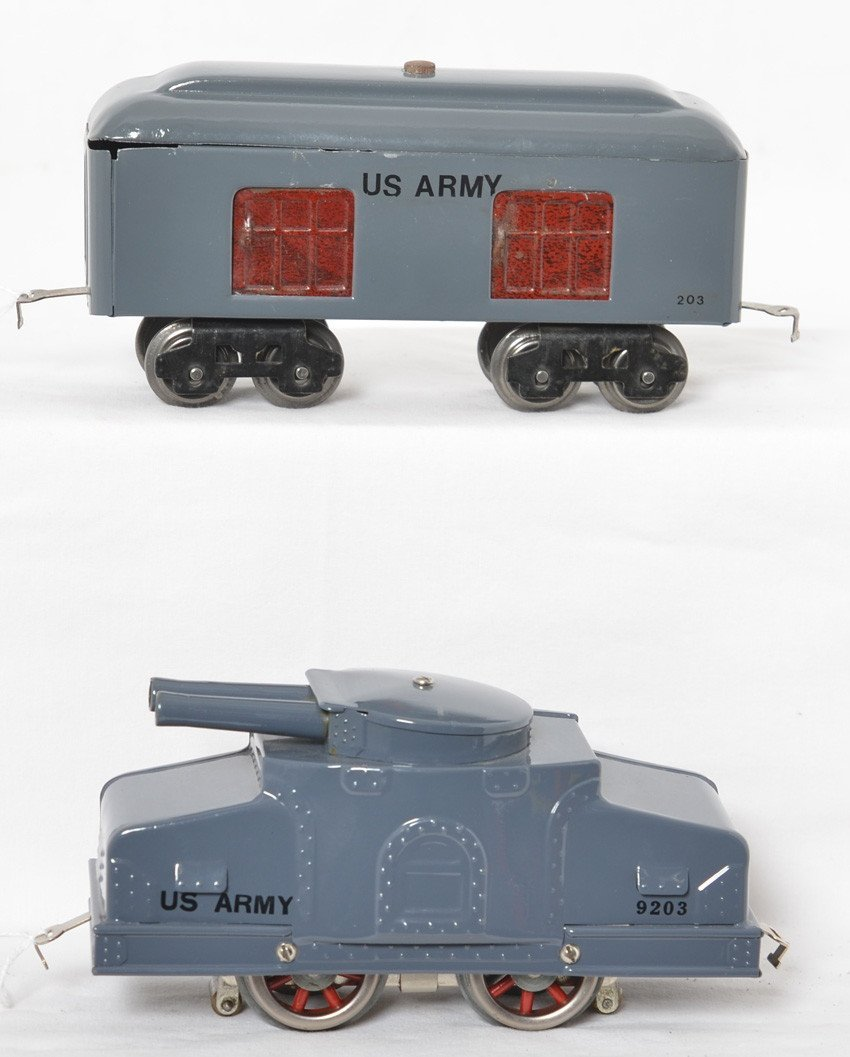 Lionel 203 Armored tank car and ammunitions