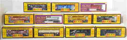 11 MTH Railking freight cars NW CO Conrail etc