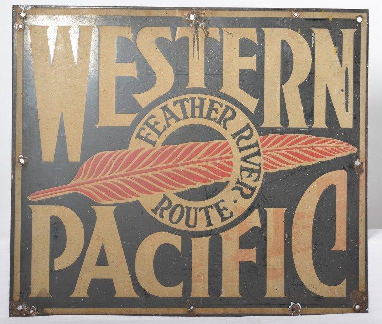 Original Western Pacific porcelain sign