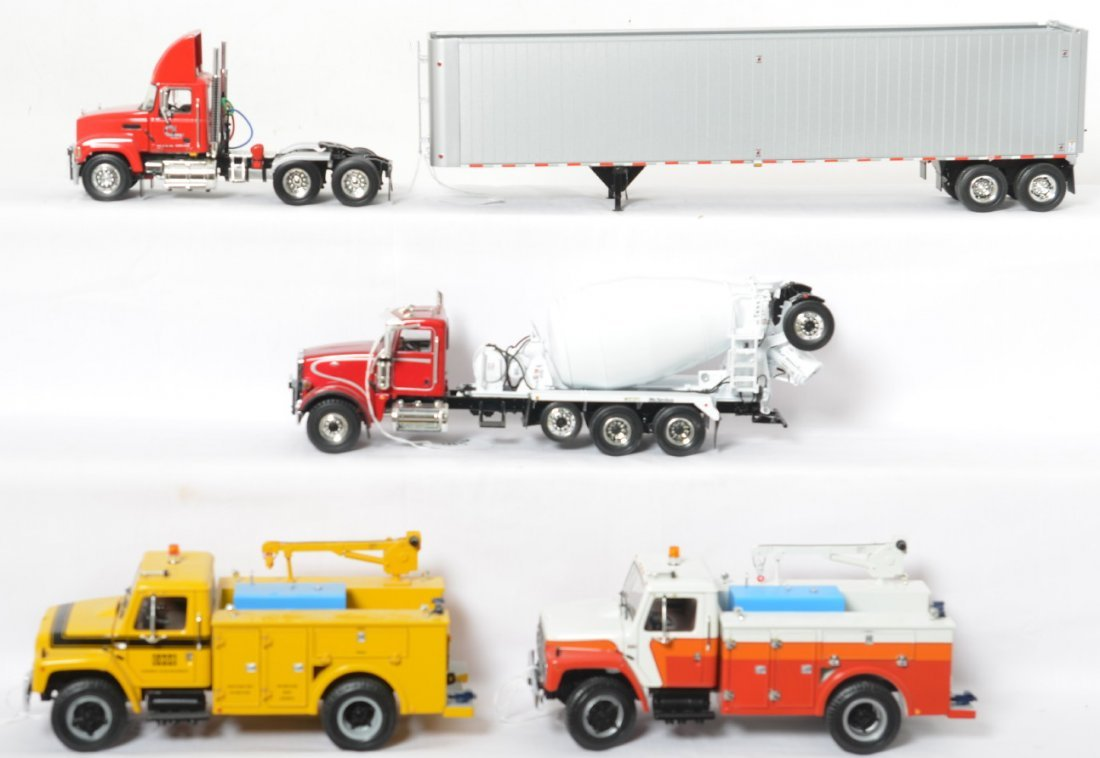 Four First Gear diecast construction trucks in OB - 2