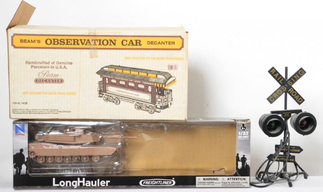 Toy trains, diecast cars, BeamÍs decanter, Amtrak - 2