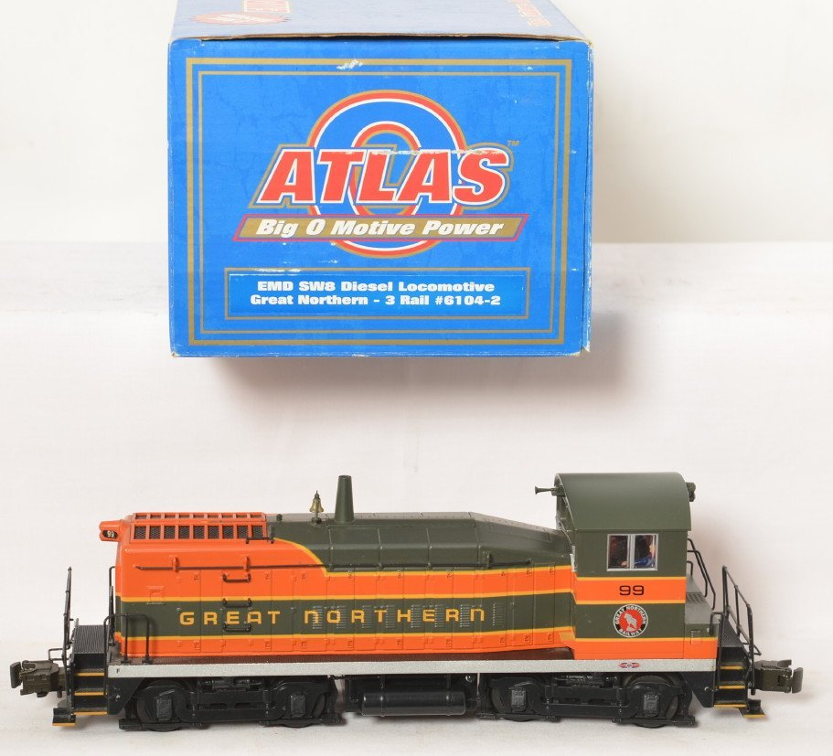 Atlas O Great Northern  SW-8 switcher