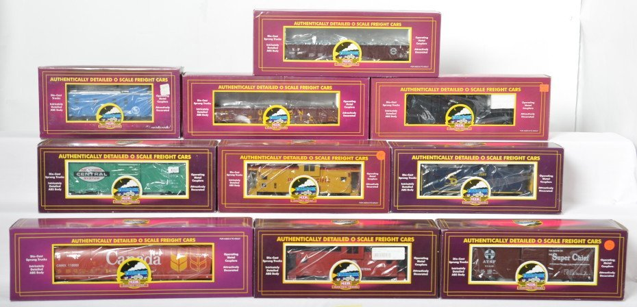 10 MTH freight cars C&O, Canada, Union Pacific, N&W,