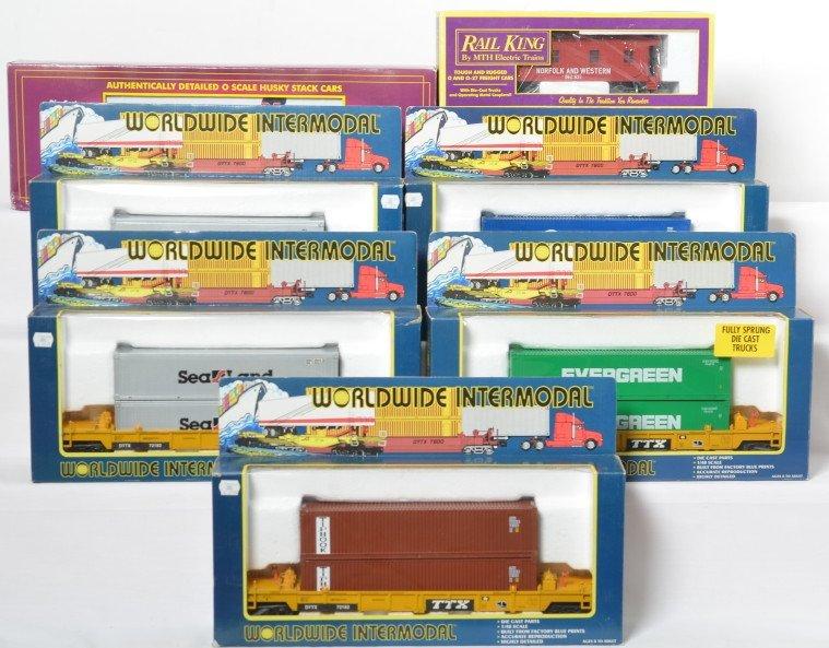 8 K Line, MTH, Lionel cars TTX, Husky, cabooses