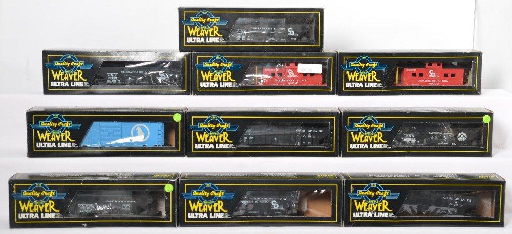 10 Weaver freight cars C&O B&O, etc