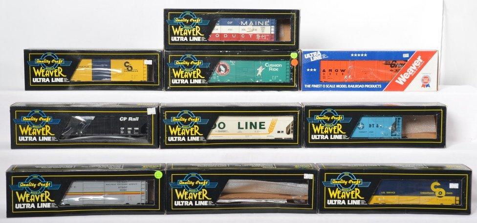10 Weaver freight cars Soo, C&O, DT&I, etc