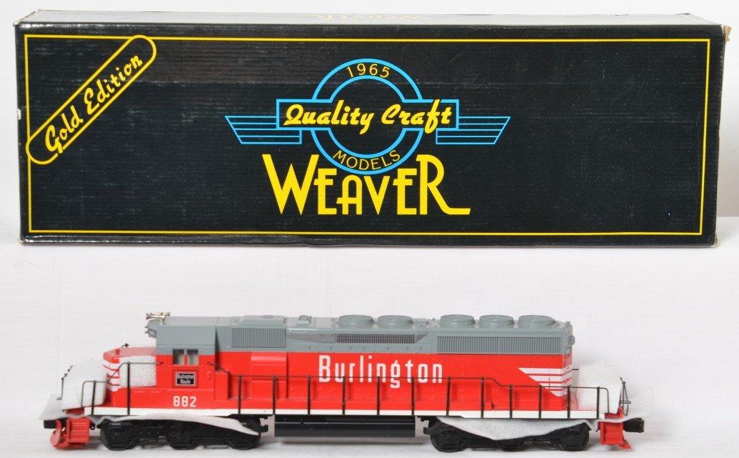 Weaver Burlington SD40-2 diesel locomotive