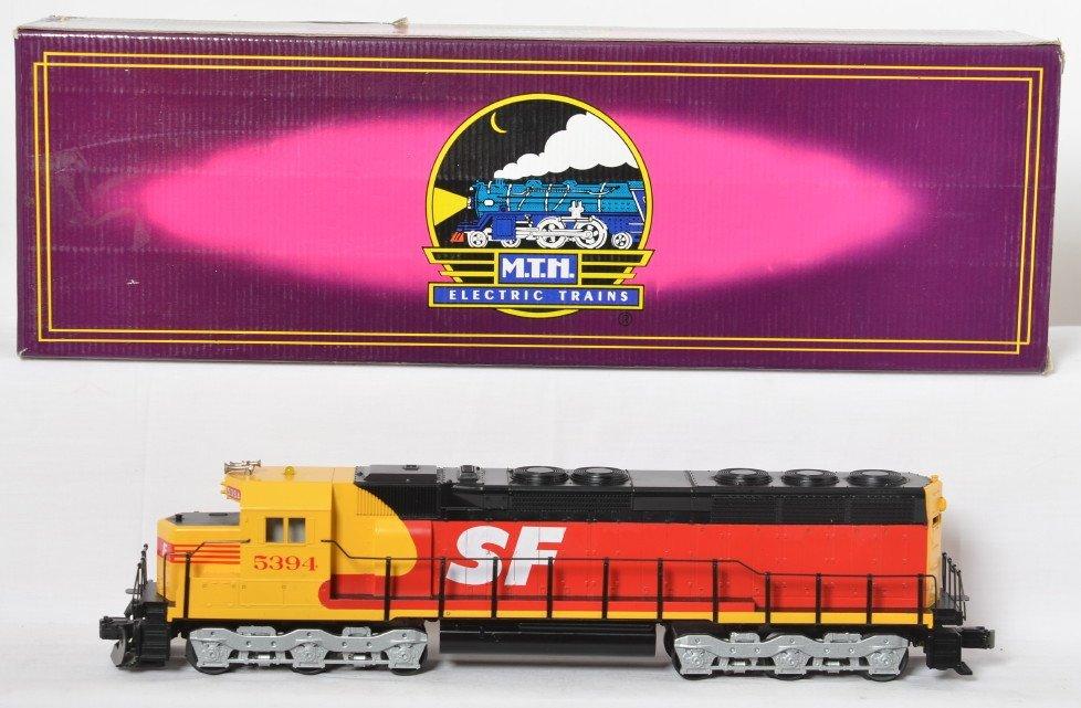 MTH Santa Fe merger SD-45 with Proto
