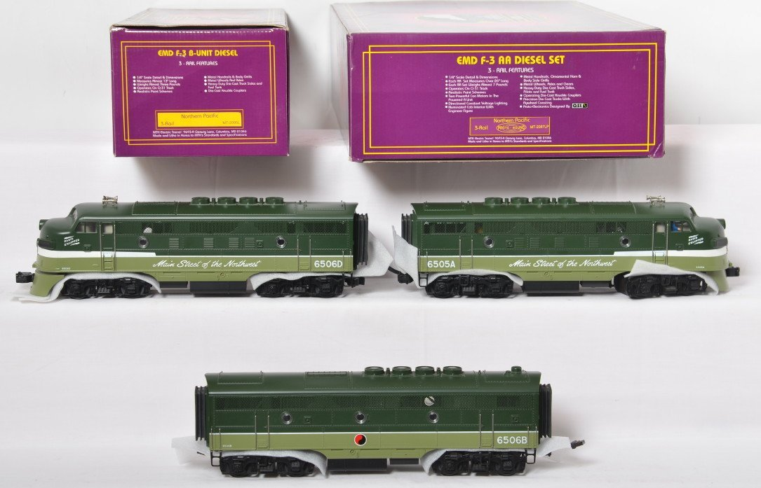 MTH Northern Pacific  F-3 A-B-A with Proto