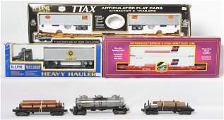 Postwar Lionel and modern MTH and K Line cars
