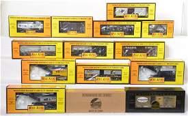 14 Railking freight cars WARR MTH Club etc