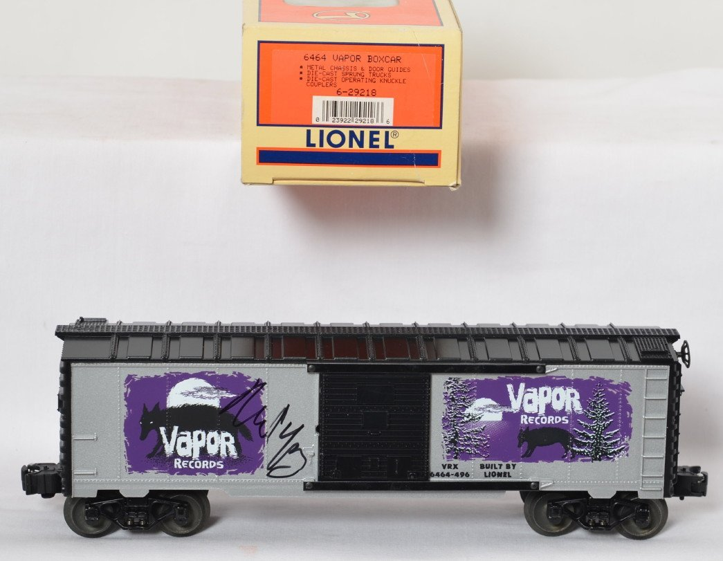 Lionel Neil Young signed Vapor Records boxcar