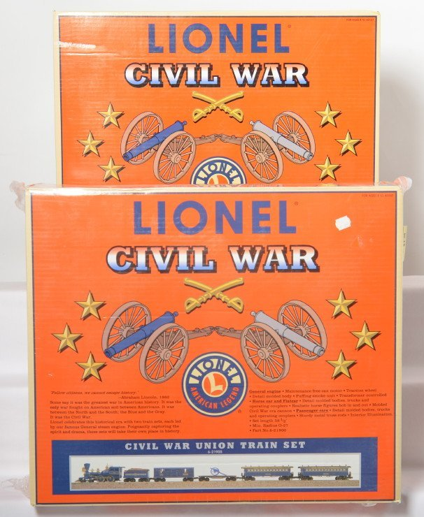 Lionel Civil War Union and Confederate sets