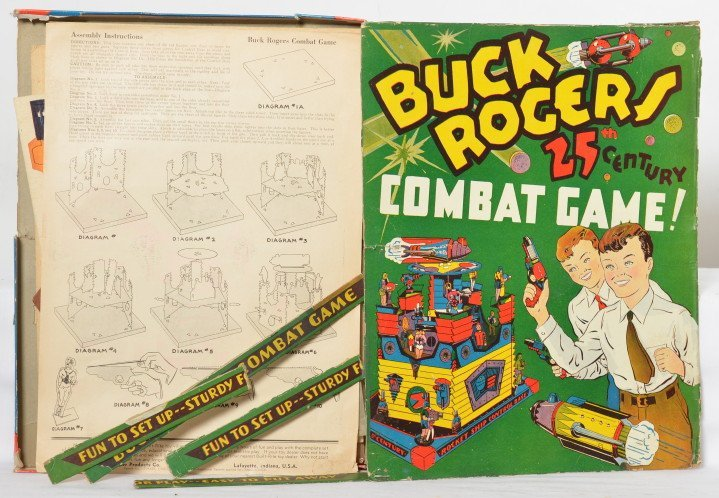 RARE Unpunched Built-Rite Buck Rogers Combat Game